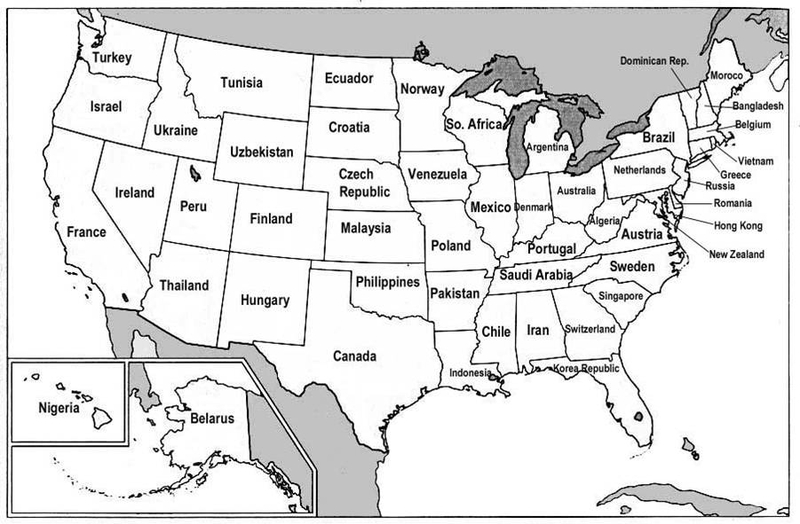 Us Map Graphic